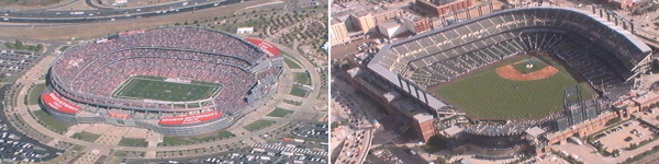 Mile High Stadium Broncos and Coors Field Rockies